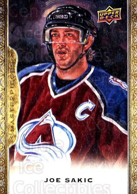 2014-15 UD Masterpieces #111 Joe Sakic<br/>2 In Stock - $3.00 each - <a href=https://centericecollectibles.foxycart.com/cart?name=2014-15%20UD%20Masterpieces%20%23111%20Joe%20Sakic...&quantity_max=2&price=$3.00&code=691338 class=foxycart> Buy it now! </a>