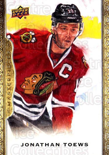 2014-15 UD Masterpieces #119 Jonathan Toews<br/>3 In Stock - $3.00 each - <a href=https://centericecollectibles.foxycart.com/cart?name=2014-15%20UD%20Masterpieces%20%23119%20Jonathan%20Toews...&quantity_max=3&price=$3.00&code=691346 class=foxycart> Buy it now! </a>