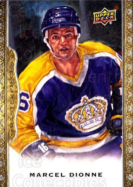 2014-15 UD Masterpieces #121 Marcel Dionne<br/>2 In Stock - $3.00 each - <a href=https://centericecollectibles.foxycart.com/cart?name=2014-15%20UD%20Masterpieces%20%23121%20Marcel%20Dionne...&quantity_max=2&price=$3.00&code=691348 class=foxycart> Buy it now! </a>
