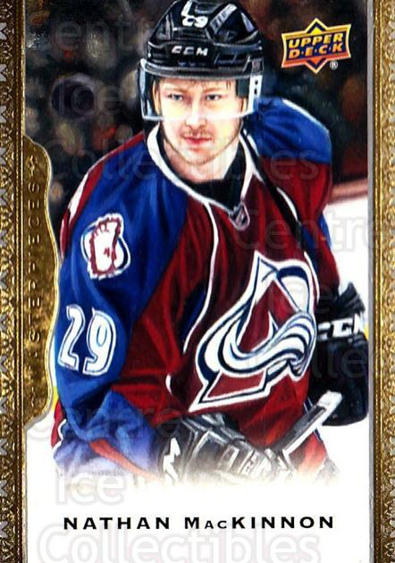 2014-15 UD Masterpieces #125 Nathan MacKinnon<br/>2 In Stock - $3.00 each - <a href=https://centericecollectibles.foxycart.com/cart?name=2014-15%20UD%20Masterpieces%20%23125%20Nathan%20MacKinno...&quantity_max=2&price=$3.00&code=691352 class=foxycart> Buy it now! </a>
