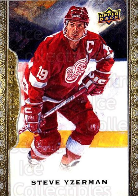 2014-15 UD Masterpieces #129 Steve Yzerman<br/>1 In Stock - $5.00 each - <a href=https://centericecollectibles.foxycart.com/cart?name=2014-15%20UD%20Masterpieces%20%23129%20Steve%20Yzerman...&quantity_max=1&price=$5.00&code=691356 class=foxycart> Buy it now! </a>