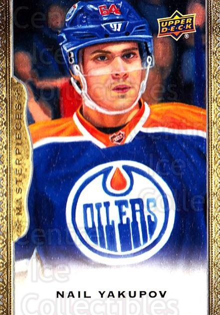 2014-15 UD Masterpieces #138 Nail Yakupov<br/>2 In Stock - $3.00 each - <a href=https://centericecollectibles.foxycart.com/cart?name=2014-15%20UD%20Masterpieces%20%23138%20Nail%20Yakupov...&quantity_max=2&price=$3.00&code=691365 class=foxycart> Buy it now! </a>