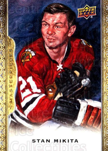 2014-15 UD Masterpieces #140 Stan Mikita<br/>2 In Stock - $3.00 each - <a href=https://centericecollectibles.foxycart.com/cart?name=2014-15%20UD%20Masterpieces%20%23140%20Stan%20Mikita...&quantity_max=2&price=$3.00&code=691367 class=foxycart> Buy it now! </a>