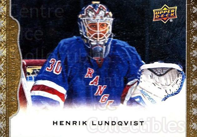 2014-15 UD Masterpieces #145 Henrik Lundqvist<br/>3 In Stock - $3.00 each - <a href=https://centericecollectibles.foxycart.com/cart?name=2014-15%20UD%20Masterpieces%20%23145%20Henrik%20Lundqvis...&quantity_max=3&price=$3.00&code=691372 class=foxycart> Buy it now! </a>