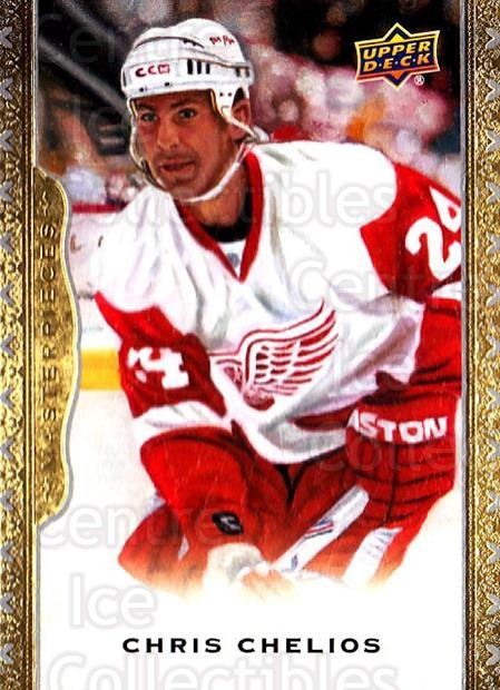 2014-15 UD Masterpieces #149 Chris Chelios<br/>2 In Stock - $3.00 each - <a href=https://centericecollectibles.foxycart.com/cart?name=2014-15%20UD%20Masterpieces%20%23149%20Chris%20Chelios...&quantity_max=2&price=$3.00&code=691376 class=foxycart> Buy it now! </a>