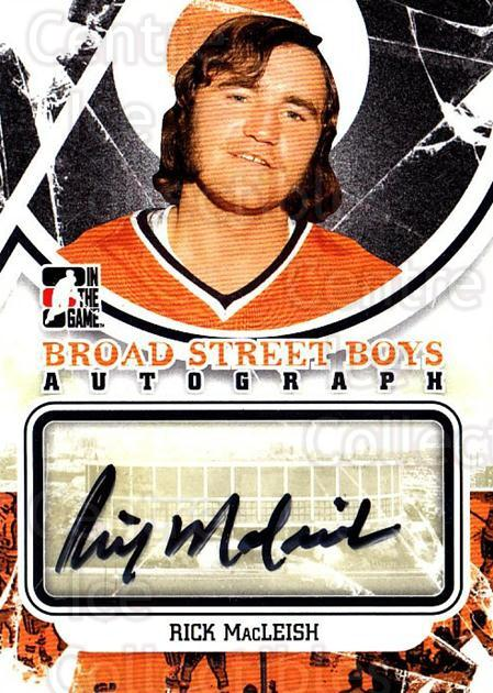 2011-12 ITG Broad Street Boys Autographs #ARM Rick MacLeish<br/>4 In Stock - $10.00 each - <a href=https://centericecollectibles.foxycart.com/cart?name=2011-12%20ITG%20Broad%20Street%20Boys%20Autographs%20%23ARM%20Rick%20MacLeish...&price=$10.00&code=691540 class=foxycart> Buy it now! </a>