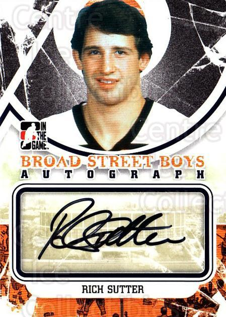 2011-12 ITG Broad Street Boys Autographs #ARS Rich Sutter<br/>1 In Stock - $10.00 each - <a href=https://centericecollectibles.foxycart.com/cart?name=2011-12%20ITG%20Broad%20Street%20Boys%20Autographs%20%23ARS%20Rich%20Sutter...&quantity_max=1&price=$10.00&code=691541 class=foxycart> Buy it now! </a>