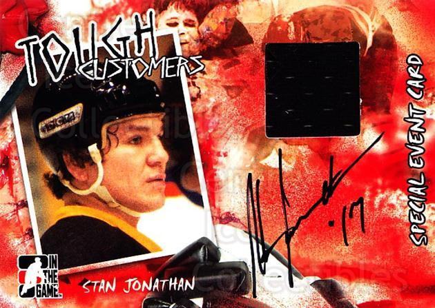 2005-06 ITG Tough Customers Signed Memorabilia #SJ Stan Jonathan<br/>1 In Stock - $20.00 each - <a href=https://centericecollectibles.foxycart.com/cart?name=2005-06%20ITG%20Tough%20Customers%20Signed%20Memorabilia%20%23SJ%20Stan%20Jonathan...&quantity_max=1&price=$20.00&code=691568 class=foxycart> Buy it now! </a>