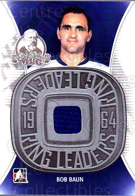 2013-14 ITG Lord Stanley's Mug Ring Leaders Jersey #10 Bob Baun<br/>1 In Stock - $20.00 each - <a href=https://centericecollectibles.foxycart.com/cart?name=2013-14%20ITG%20Lord%20Stanley's%20Mug%20Ring%20Leaders%20Jersey%20%2310%20Bob%20Baun...&price=$20.00&code=691681 class=foxycart> Buy it now! </a>