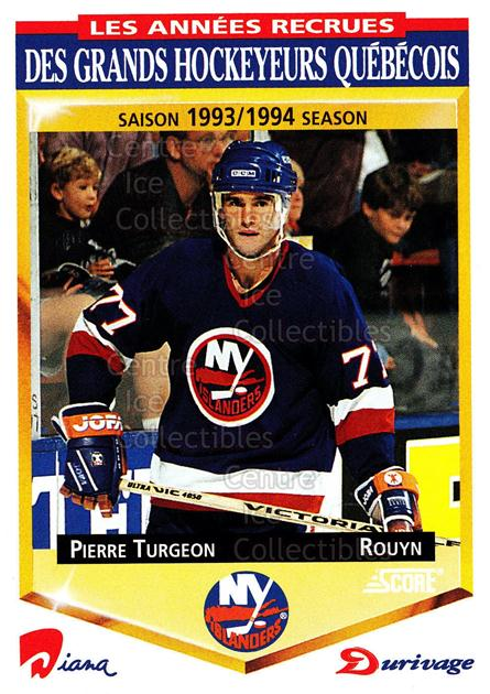1993-94 Durivage Score #30 Pierre Turgeon<br/>19 In Stock - $2.00 each - <a href=https://centericecollectibles.foxycart.com/cart?name=1993-94%20Durivage%20Score%20%2330%20Pierre%20Turgeon...&quantity_max=19&price=$2.00&code=6917 class=foxycart> Buy it now! </a>
