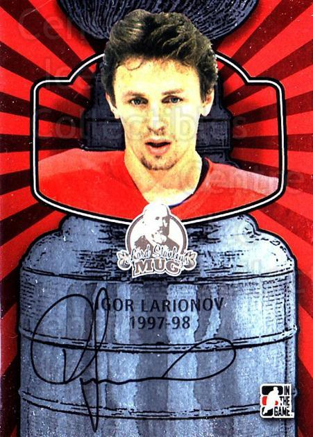 2013-14 ITG Lord Stanley's Mug Auto #AIL2 Igor Larionov<br/>2 In Stock - $20.00 each - <a href=https://centericecollectibles.foxycart.com/cart?name=2013-14%20ITG%20Lord%20Stanley's%20Mug%20Auto%20%23AIL2%20Igor%20Larionov...&quantity_max=2&price=$20.00&code=691947 class=foxycart> Buy it now! </a>