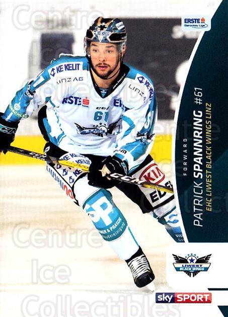 2016-17 Erste Bank Eishockey Liga EBEL #39 Patrick Spannring<br/>4 In Stock - $2.00 each - <a href=https://centericecollectibles.foxycart.com/cart?name=2016-17%20Erste%20Bank%20Eishockey%20Liga%20EBEL%20%2339%20Patrick%20Spannri...&quantity_max=4&price=$2.00&code=692141 class=foxycart> Buy it now! </a>