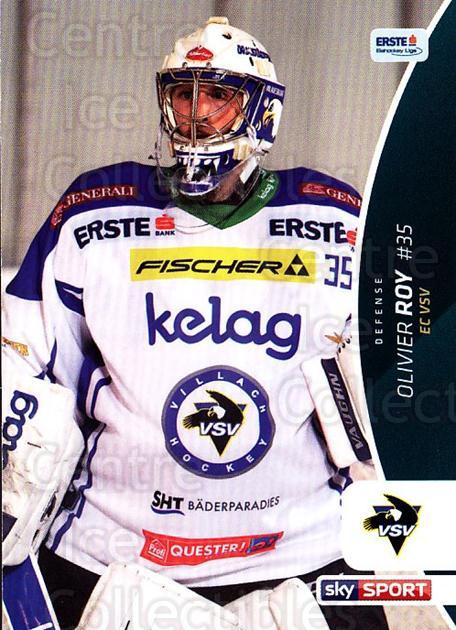 2016-17 Erste Bank Eishockey Liga EBEL #43 Olivier Roy<br/>2 In Stock - $2.00 each - <a href=https://centericecollectibles.foxycart.com/cart?name=2016-17%20Erste%20Bank%20Eishockey%20Liga%20EBEL%20%2343%20Olivier%20Roy...&quantity_max=2&price=$2.00&code=692145 class=foxycart> Buy it now! </a>
