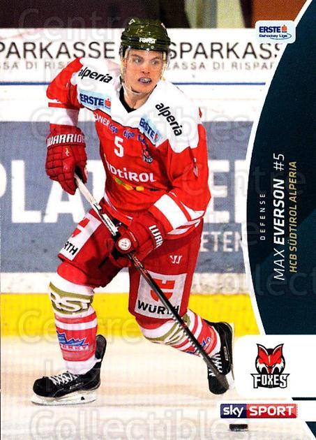 2016-17 Erste Bank Eishockey Liga EBEL #73 Max Everson<br/>3 In Stock - $2.00 each - <a href=https://centericecollectibles.foxycart.com/cart?name=2016-17%20Erste%20Bank%20Eishockey%20Liga%20EBEL%20%2373%20Max%20Everson...&quantity_max=3&price=$2.00&code=692175 class=foxycart> Buy it now! </a>