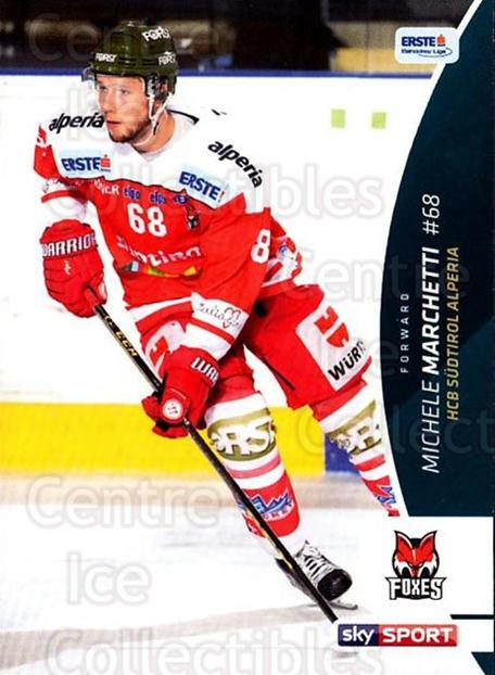 2016-17 Erste Bank Eishockey Liga EBEL #78 Michele Marchetti<br/>2 In Stock - $2.00 each - <a href=https://centericecollectibles.foxycart.com/cart?name=2016-17%20Erste%20Bank%20Eishockey%20Liga%20EBEL%20%2378%20Michele%20Marchet...&quantity_max=2&price=$2.00&code=692180 class=foxycart> Buy it now! </a>