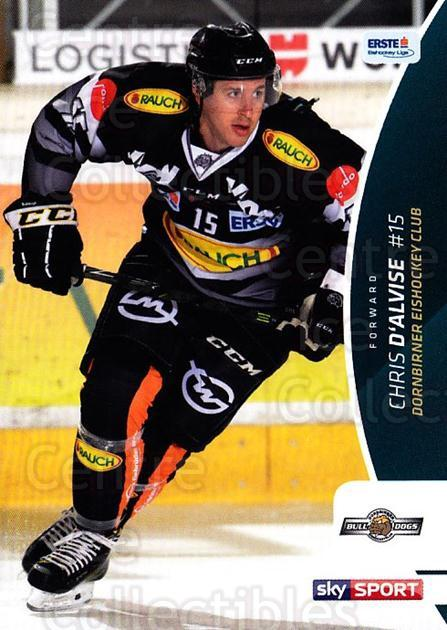 2016-17 Erste Bank Eishockey Liga EBEL #93 Chris D'Alvise<br/>3 In Stock - $2.00 each - <a href=https://centericecollectibles.foxycart.com/cart?name=2016-17%20Erste%20Bank%20Eishockey%20Liga%20EBEL%20%2393%20Chris%20D'Alvise...&quantity_max=3&price=$2.00&code=692195 class=foxycart> Buy it now! </a>
