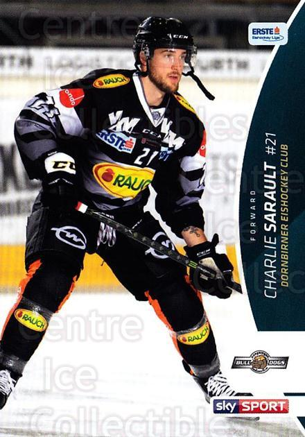 2016-17 Erste Bank Eishockey Liga EBEL #98 Charlie Sarault<br/>2 In Stock - $2.00 each - <a href=https://centericecollectibles.foxycart.com/cart?name=2016-17%20Erste%20Bank%20Eishockey%20Liga%20EBEL%20%2398%20Charlie%20Sarault...&quantity_max=2&price=$2.00&code=692200 class=foxycart> Buy it now! </a>