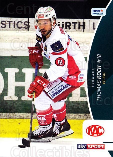 2016-17 Erste Bank Eishockey Liga EBEL #108 Thomas Koch<br/>4 In Stock - $2.00 each - <a href=https://centericecollectibles.foxycart.com/cart?name=2016-17%20Erste%20Bank%20Eishockey%20Liga%20EBEL%20%23108%20Thomas%20Koch...&quantity_max=4&price=$2.00&code=692210 class=foxycart> Buy it now! </a>