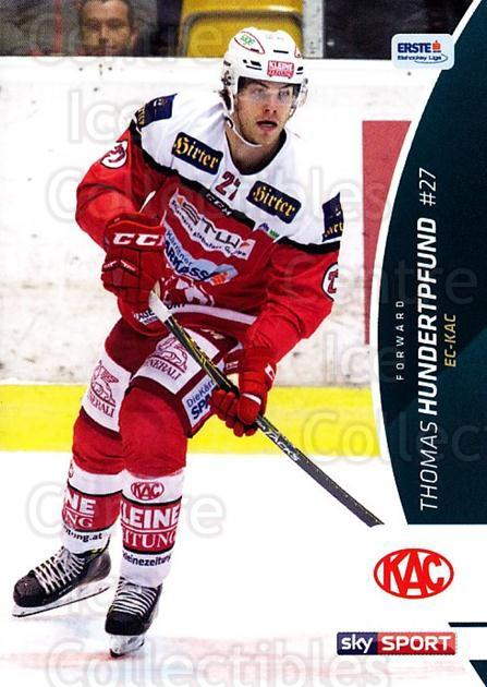 2016-17 Erste Bank Eishockey Liga EBEL #109 Thomas Hundertpfund<br/>1 In Stock - $2.00 each - <a href=https://centericecollectibles.foxycart.com/cart?name=2016-17%20Erste%20Bank%20Eishockey%20Liga%20EBEL%20%23109%20Thomas%20Hundertp...&quantity_max=1&price=$2.00&code=692211 class=foxycart> Buy it now! </a>
