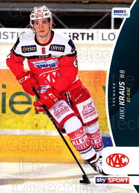2016-17 Erste Bank Eishockey Liga EBEL #111 Niki Kraus<br/>4 In Stock - $2.00 each - <a href=https://centericecollectibles.foxycart.com/cart?name=2016-17%20Erste%20Bank%20Eishockey%20Liga%20EBEL%20%23111%20Niki%20Kraus...&quantity_max=4&price=$2.00&code=692213 class=foxycart> Buy it now! </a>