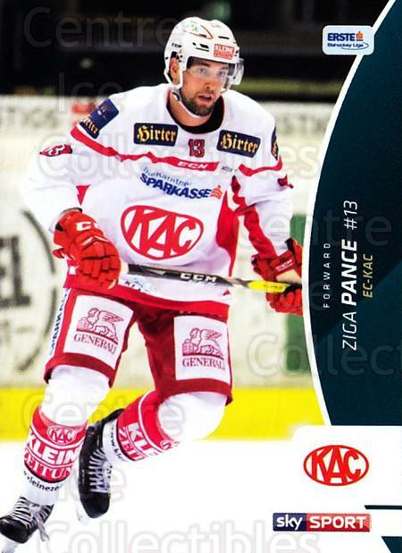 2016-17 Erste Bank Eishockey Liga EBEL #112 Ziga Pance<br/>4 In Stock - $2.00 each - <a href=https://centericecollectibles.foxycart.com/cart?name=2016-17%20Erste%20Bank%20Eishockey%20Liga%20EBEL%20%23112%20Ziga%20Pance...&quantity_max=4&price=$2.00&code=692214 class=foxycart> Buy it now! </a>
