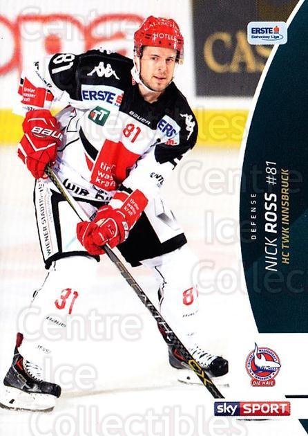 2016-17 Erste Bank Eishockey Liga EBEL #115 Nick Ross<br/>2 In Stock - $2.00 each - <a href=https://centericecollectibles.foxycart.com/cart?name=2016-17%20Erste%20Bank%20Eishockey%20Liga%20EBEL%20%23115%20Nick%20Ross...&quantity_max=2&price=$2.00&code=692217 class=foxycart> Buy it now! </a>