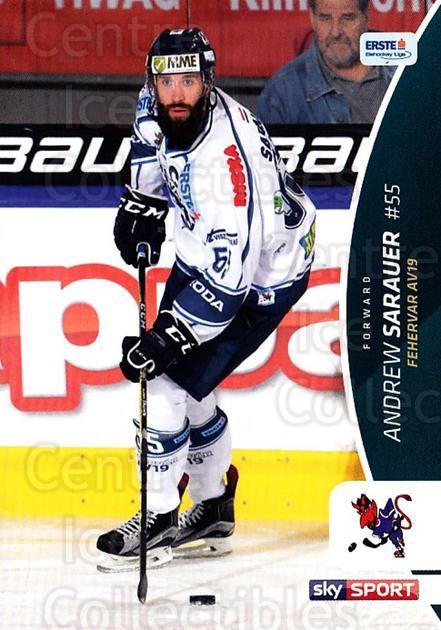 2016-17 Erste Bank Eishockey Liga EBEL #134 Andrew Sarauer<br/>4 In Stock - $2.00 each - <a href=https://centericecollectibles.foxycart.com/cart?name=2016-17%20Erste%20Bank%20Eishockey%20Liga%20EBEL%20%23134%20Andrew%20Sarauer...&quantity_max=4&price=$2.00&code=692236 class=foxycart> Buy it now! </a>