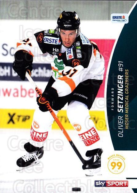 2016-17 Erste Bank Eishockey Liga EBEL #154 Oliver Setzinger<br/>3 In Stock - $2.00 each - <a href=https://centericecollectibles.foxycart.com/cart?name=2016-17%20Erste%20Bank%20Eishockey%20Liga%20EBEL%20%23154%20Oliver%20Setzinge...&quantity_max=3&price=$2.00&code=692256 class=foxycart> Buy it now! </a>