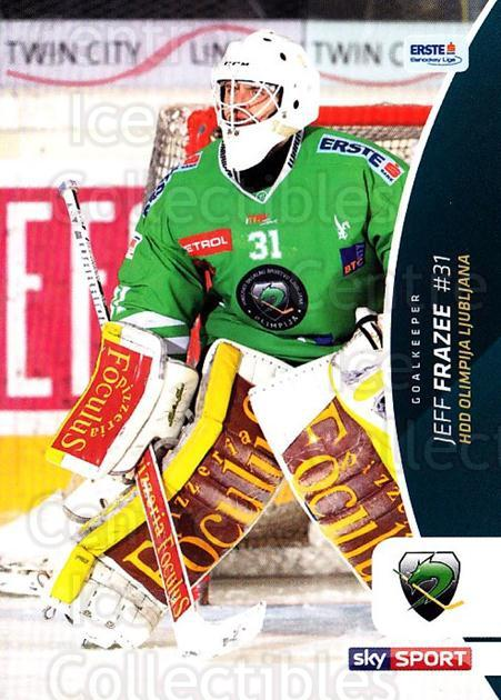 2016-17 Erste Bank Eishockey Liga EBEL #155 Jeff Frazee<br/>3 In Stock - $2.00 each - <a href=https://centericecollectibles.foxycart.com/cart?name=2016-17%20Erste%20Bank%20Eishockey%20Liga%20EBEL%20%23155%20Jeff%20Frazee...&quantity_max=3&price=$2.00&code=692257 class=foxycart> Buy it now! </a>