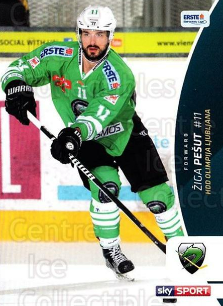 2016-17 Erste Bank Eishockey Liga EBEL #161 Ziga Pesut<br/>4 In Stock - $2.00 each - <a href=https://centericecollectibles.foxycart.com/cart?name=2016-17%20Erste%20Bank%20Eishockey%20Liga%20EBEL%20%23161%20Ziga%20Pesut...&quantity_max=4&price=$2.00&code=692263 class=foxycart> Buy it now! </a>