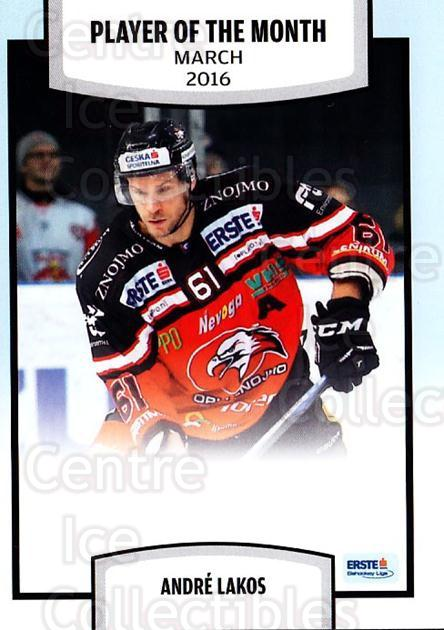 2016-17 Erste Bank Eishockey Liga EBEL #177 Andre Lakos<br/>4 In Stock - $2.00 each - <a href=https://centericecollectibles.foxycart.com/cart?name=2016-17%20Erste%20Bank%20Eishockey%20Liga%20EBEL%20%23177%20Andre%20Lakos...&quantity_max=4&price=$2.00&code=692279 class=foxycart> Buy it now! </a>