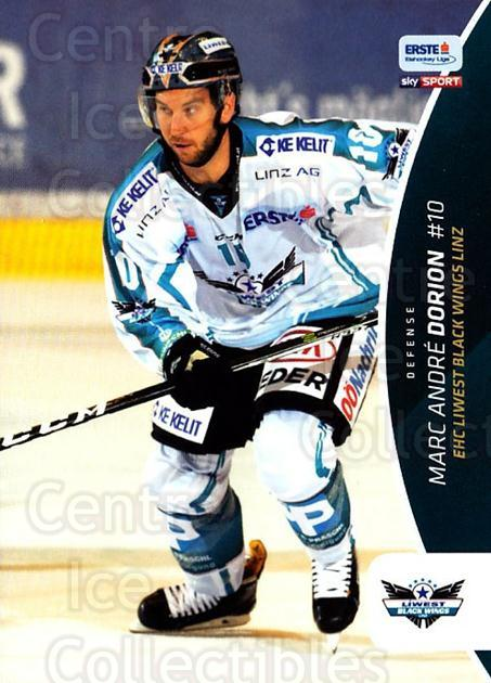 2016-17 Erste Bank Eishockey Liga EBEL #234 Marc-Andre Dorion<br/>4 In Stock - $2.00 each - <a href=https://centericecollectibles.foxycart.com/cart?name=2016-17%20Erste%20Bank%20Eishockey%20Liga%20EBEL%20%23234%20Marc-Andre%20Dori...&quantity_max=4&price=$2.00&code=692336 class=foxycart> Buy it now! </a>