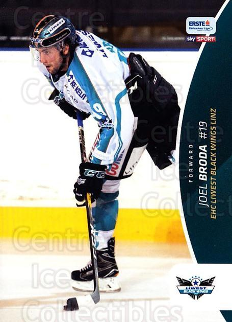 2016-17 Erste Bank Eishockey Liga EBEL #241 Joel Broda<br/>4 In Stock - $2.00 each - <a href=https://centericecollectibles.foxycart.com/cart?name=2016-17%20Erste%20Bank%20Eishockey%20Liga%20EBEL%20%23241%20Joel%20Broda...&quantity_max=4&price=$2.00&code=692343 class=foxycart> Buy it now! </a>