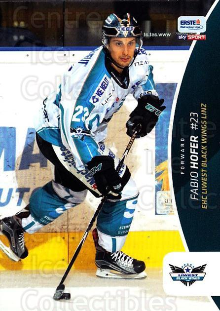 2016-17 Erste Bank Eishockey Liga EBEL #242 Fabio Hofer<br/>4 In Stock - $2.00 each - <a href=https://centericecollectibles.foxycart.com/cart?name=2016-17%20Erste%20Bank%20Eishockey%20Liga%20EBEL%20%23242%20Fabio%20Hofer...&quantity_max=4&price=$2.00&code=692344 class=foxycart> Buy it now! </a>