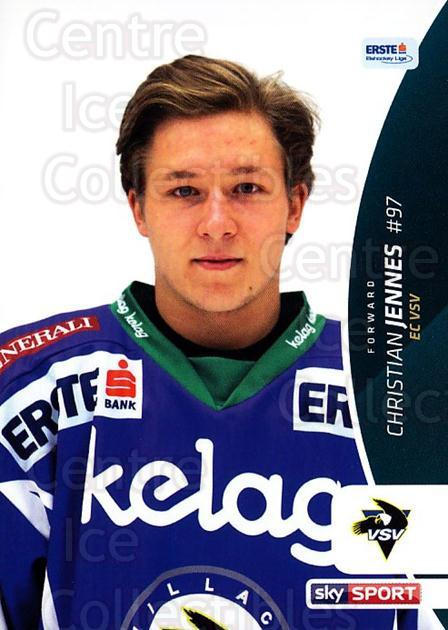 2016-17 Erste Bank Eishockey Liga EBEL #255 Christian Jennes<br/>4 In Stock - $2.00 each - <a href=https://centericecollectibles.foxycart.com/cart?name=2016-17%20Erste%20Bank%20Eishockey%20Liga%20EBEL%20%23255%20Christian%20Jenne...&quantity_max=4&price=$2.00&code=692357 class=foxycart> Buy it now! </a>