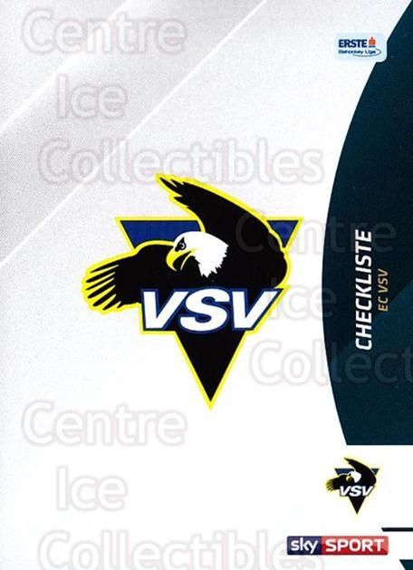 2016-17 Erste Bank Eishockey Liga EBEL #261 Checklist<br/>4 In Stock - $2.00 each - <a href=https://centericecollectibles.foxycart.com/cart?name=2016-17%20Erste%20Bank%20Eishockey%20Liga%20EBEL%20%23261%20Checklist...&quantity_max=4&price=$2.00&code=692363 class=foxycart> Buy it now! </a>