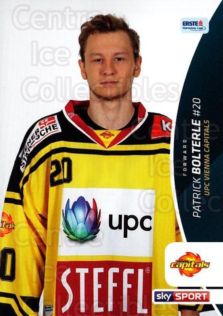 2016-17 Erste Bank Eishockey Liga EBEL #263 Patrick Bolterle<br/>4 In Stock - $2.00 each - <a href=https://centericecollectibles.foxycart.com/cart?name=2016-17%20Erste%20Bank%20Eishockey%20Liga%20EBEL%20%23263%20Patrick%20Bolterl...&quantity_max=4&price=$2.00&code=692365 class=foxycart> Buy it now! </a>