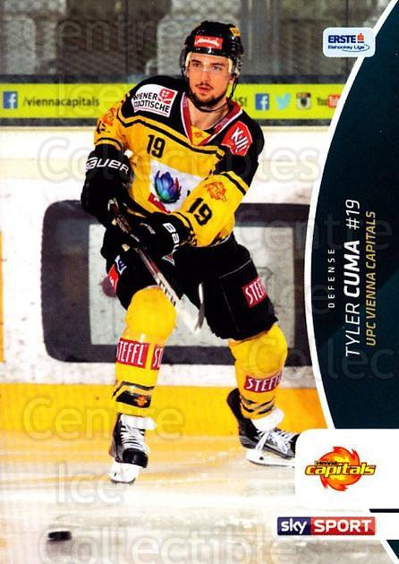 2016-17 Erste Bank Eishockey Liga EBEL #264 Tyler Cuma<br/>3 In Stock - $2.00 each - <a href=https://centericecollectibles.foxycart.com/cart?name=2016-17%20Erste%20Bank%20Eishockey%20Liga%20EBEL%20%23264%20Tyler%20Cuma...&quantity_max=3&price=$2.00&code=692366 class=foxycart> Buy it now! </a>