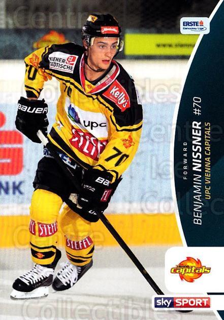 2016-17 Erste Bank Eishockey Liga EBEL #269 Benjamin Nissner<br/>2 In Stock - $2.00 each - <a href=https://centericecollectibles.foxycart.com/cart?name=2016-17%20Erste%20Bank%20Eishockey%20Liga%20EBEL%20%23269%20Benjamin%20Nissne...&quantity_max=2&price=$2.00&code=692371 class=foxycart> Buy it now! </a>