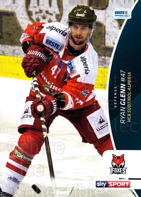 2016-17 Erste Bank Eishockey Liga EBEL #280 Ryan Glenn<br/>2 In Stock - $2.00 each - <a href=https://centericecollectibles.foxycart.com/cart?name=2016-17%20Erste%20Bank%20Eishockey%20Liga%20EBEL%20%23280%20Ryan%20Glenn...&quantity_max=2&price=$2.00&code=692382 class=foxycart> Buy it now! </a>