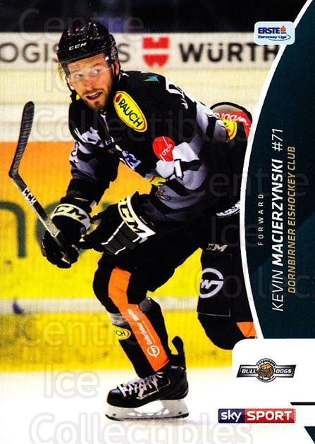 2016-17 Erste Bank Eishockey Liga EBEL #290 Kevin Macierzynski<br/>4 In Stock - $2.00 each - <a href=https://centericecollectibles.foxycart.com/cart?name=2016-17%20Erste%20Bank%20Eishockey%20Liga%20EBEL%20%23290%20Kevin%20Macierzyn...&quantity_max=4&price=$2.00&code=692392 class=foxycart> Buy it now! </a>