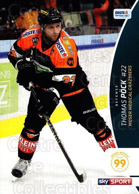 2016-17 Erste Bank Eishockey Liga EBEL #342 Thomas Pock<br/>3 In Stock - $2.00 each - <a href=https://centericecollectibles.foxycart.com/cart?name=2016-17%20Erste%20Bank%20Eishockey%20Liga%20EBEL%20%23342%20Thomas%20Pock...&quantity_max=3&price=$2.00&code=692444 class=foxycart> Buy it now! </a>