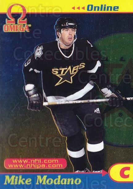 1998-99 Omega Online #13 Mike Modano<br/>3 In Stock - $3.00 each - <a href=https://centericecollectibles.foxycart.com/cart?name=1998-99%20Omega%20Online%20%2313%20Mike%20Modano...&quantity_max=3&price=$3.00&code=69253 class=foxycart> Buy it now! </a>