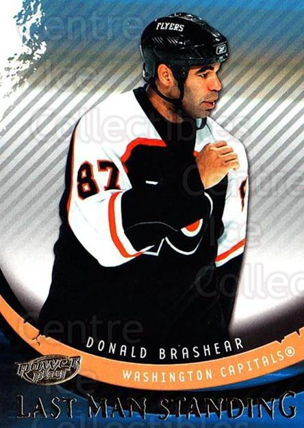 2006-07 UD Power Play Last Man Standing #4 Donald Brashear<br/>2 In Stock - $3.00 each - <a href=https://centericecollectibles.foxycart.com/cart?name=2006-07%20UD%20Power%20Play%20Last%20Man%20Standing%20%234%20Donald%20Brashear...&quantity_max=2&price=$3.00&code=692621 class=foxycart> Buy it now! </a>