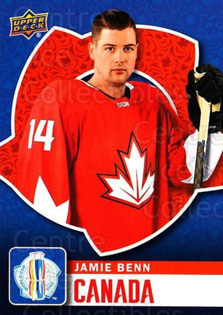 2016 Upper Deck World Cup of Hockey #3 Jamie Benn<br/>1 In Stock - $2.00 each - <a href=https://centericecollectibles.foxycart.com/cart?name=2016%20Upper%20Deck%20World%20Cup%20of%20Hockey%20%233%20Jamie%20Benn...&quantity_max=1&price=$2.00&code=692657 class=foxycart> Buy it now! </a>