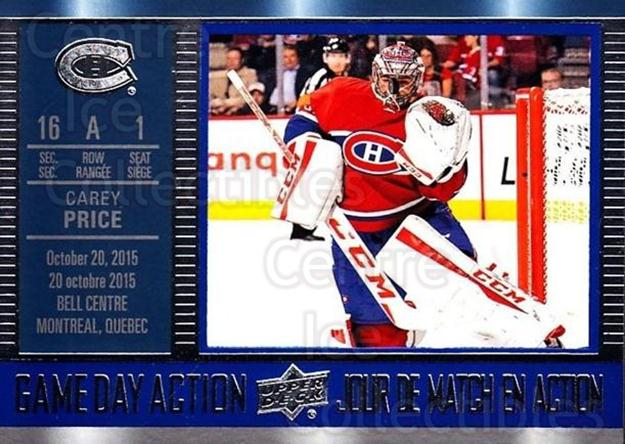 2016-17 Tim Hortons Game Day Action #8 Carey Price<br/>14 In Stock - $3.00 each - <a href=https://centericecollectibles.foxycart.com/cart?name=2016-17%20Tim%20Hortons%20Game%20Day%20Action%20%238%20Carey%20Price...&price=$3.00&code=692702 class=foxycart> Buy it now! </a>