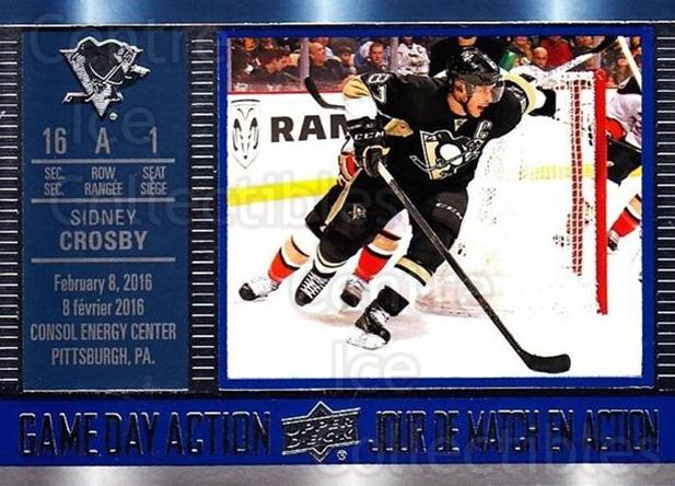 2016-17 Tim Hortons Game Day Action #10 Sidney Crosby<br/>5 In Stock - $3.00 each - <a href=https://centericecollectibles.foxycart.com/cart?name=2016-17%20Tim%20Hortons%20Game%20Day%20Action%20%2310%20Sidney%20Crosby...&quantity_max=5&price=$3.00&code=692704 class=foxycart> Buy it now! </a>