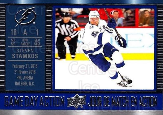 2016-17 Tim Hortons Game Day Action #11 Steven Stamkos<br/>12 In Stock - $2.00 each - <a href=https://centericecollectibles.foxycart.com/cart?name=2016-17%20Tim%20Hortons%20Game%20Day%20Action%20%2311%20Steven%20Stamkos...&price=$2.00&code=692705 class=foxycart> Buy it now! </a>