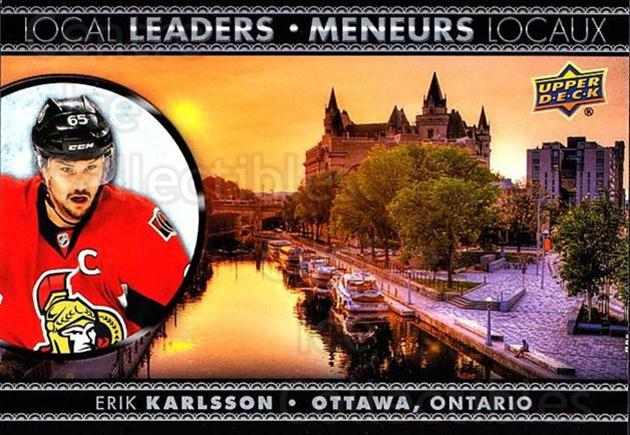 2016-17 Tim Hortons Local Leaders #4 Erik Karlsson<br/>12 In Stock - $2.00 each - <a href=https://centericecollectibles.foxycart.com/cart?name=2016-17%20Tim%20Hortons%20Local%20Leaders%20%234%20Erik%20Karlsson...&quantity_max=12&price=$2.00&code=692713 class=foxycart> Buy it now! </a>