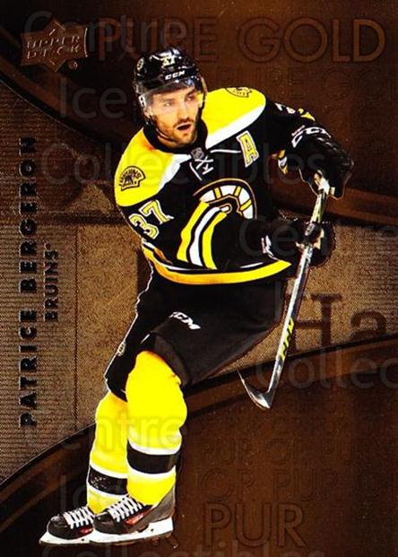 2016-17 Tim Hortons Pure Gold #2 Patrice Bergeron<br/>8 In Stock - $2.00 each - <a href=https://centericecollectibles.foxycart.com/cart?name=2016-17%20Tim%20Hortons%20Pure%20Gold%20%232%20Patrice%20Bergero...&quantity_max=8&price=$2.00&code=692718 class=foxycart> Buy it now! </a>